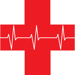 ekg, red cross, first aid