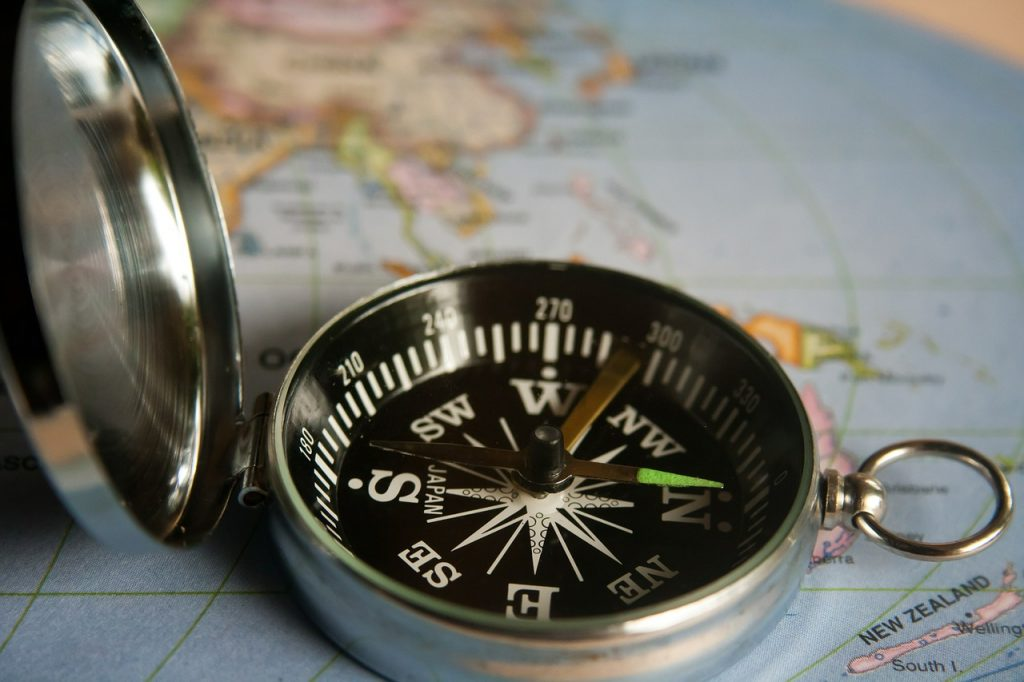magnetic compass, navigation, direction
